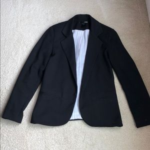 Aqua black blazer with no buttons